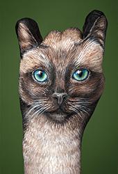 Cat Siamese Handpainting