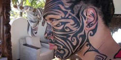 "Body painting in Madagascar ""Charlie"" 2014"