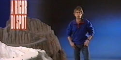 Interview A rigor di Spot background painting for Mercedes - 1989
