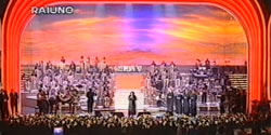 Scenary painted on canvas mt 11x25 for Sanremo Festival 1997