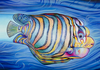 Oil Painting on Canvas - Tropical Fish