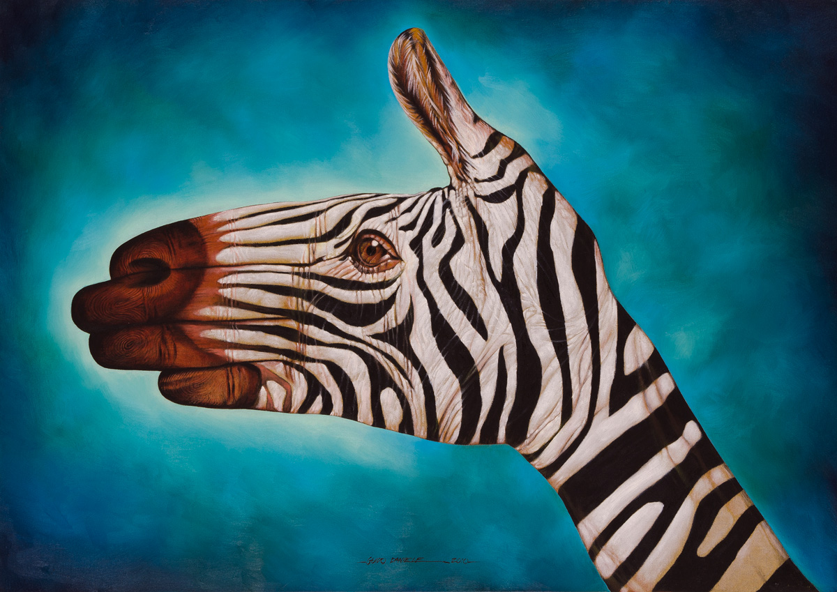 zebra oil painting - photo #2